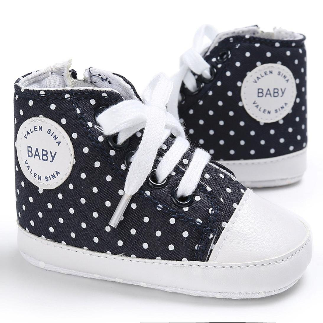 Fabal Baby Shoes Boy Girl Newborn Crib Soft Sole Shoe Sneakers