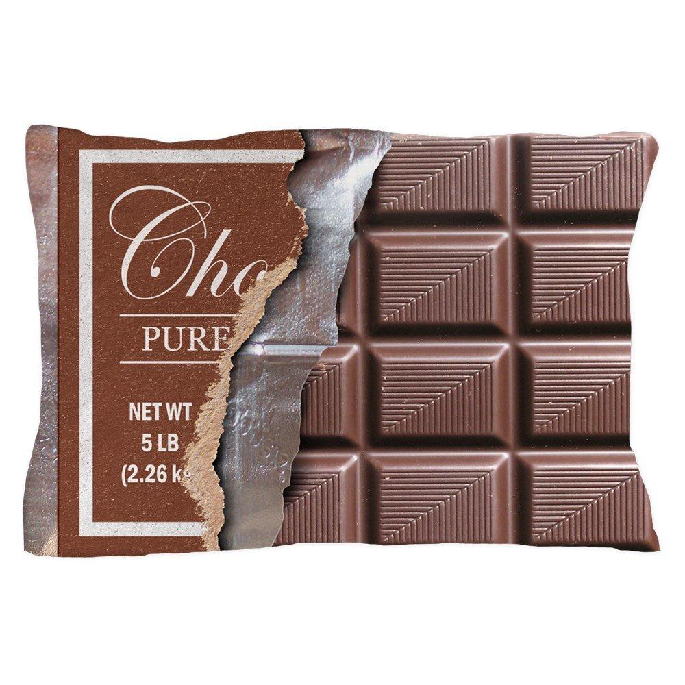 "CafePress Chocolate Bar Standard Size Pillow Case, 20""x30"" Pillow Cover, Unique Pillow Slip"