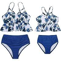 AmzBarley Bañadores Madre e Hija Bikinis Traje de Baño Iguales Ropa Verano,Bañador Traje de Baño de Mujer Niña Tankini…