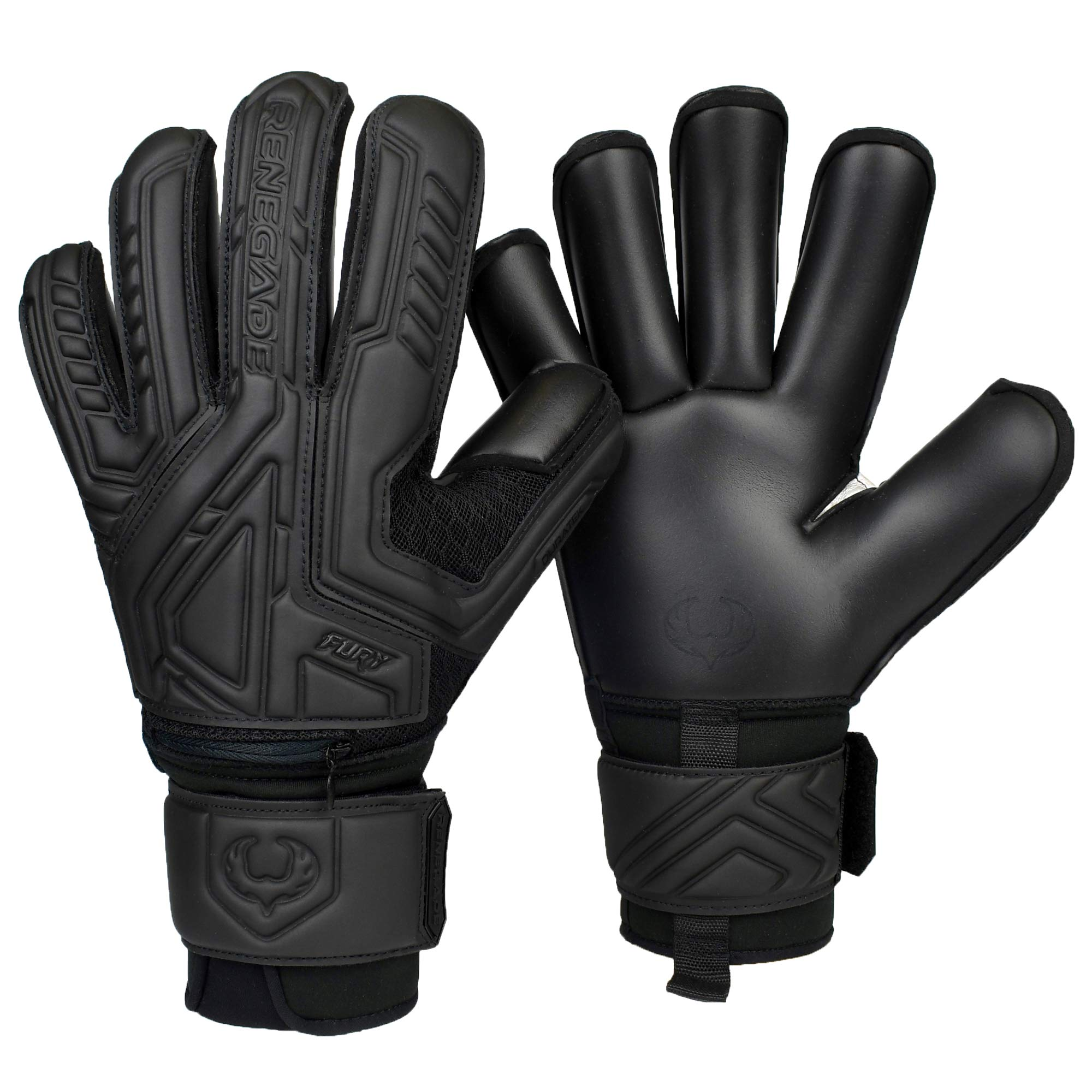 Renegade GK Fury Goalie Gloves with Microbe-Guard (Sizes 7-11, 7 Styles, Level 4) Pro-Tek Fingersaves & 4+3MM Giga Grip | High Performance Pro-Level Goalkeeper Glove | Based in The USA