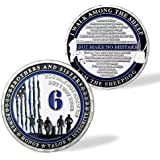 Thin Blue Line Police Officer Challenge Coin - I Got Your Six