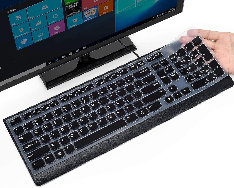 CaseBuy Keyboard Cover for Lenovo 510 Wireless Keyboard GX30N81775 4X30M39458, Lenovo Wireless Keyboard Protector Skin, Keyboard Accessories, Black