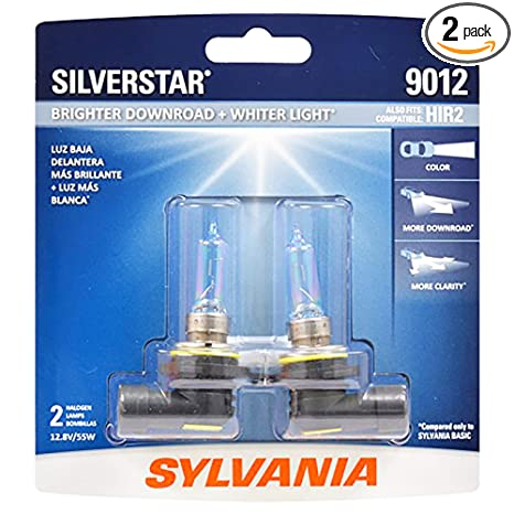 Sylvania Headlight Bulb Guide >> Sylvania 9012 Silverstar High Performance Halogen Headlight Bulb High Beam Low Beam And Fog Replacement Bulb Brighter Downroad With Whiter