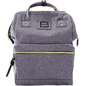 """Himawari Travel Backpack Large Diaper Bag School multi-function Backpack for Women&Men 11""""x16""""x6.3""""(Gray)"""