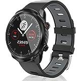 CatShin Smarta klockor, full pekskärm aktivitetsmätare fitness löpning sportklockor för män kvinnor Ip68 vattentät…