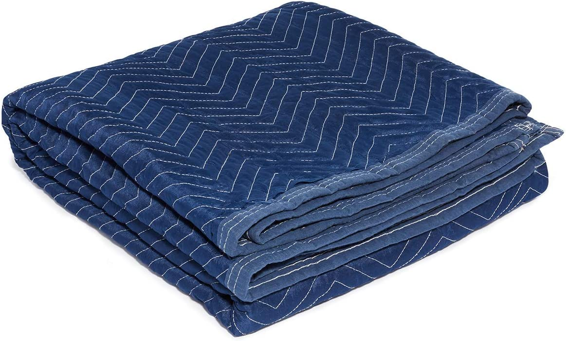 "Moving Storage Packing Blanket - Super Size 40"" x 72"" Professional Quilted Shipping Movers Furniture Pad (1, Blue)"