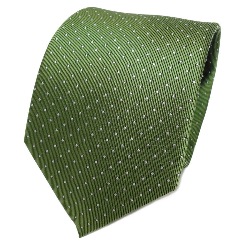 TigerTie Designer Seidenkrawatte in gepunktet gemustert - Krawatte 100% pure Seide