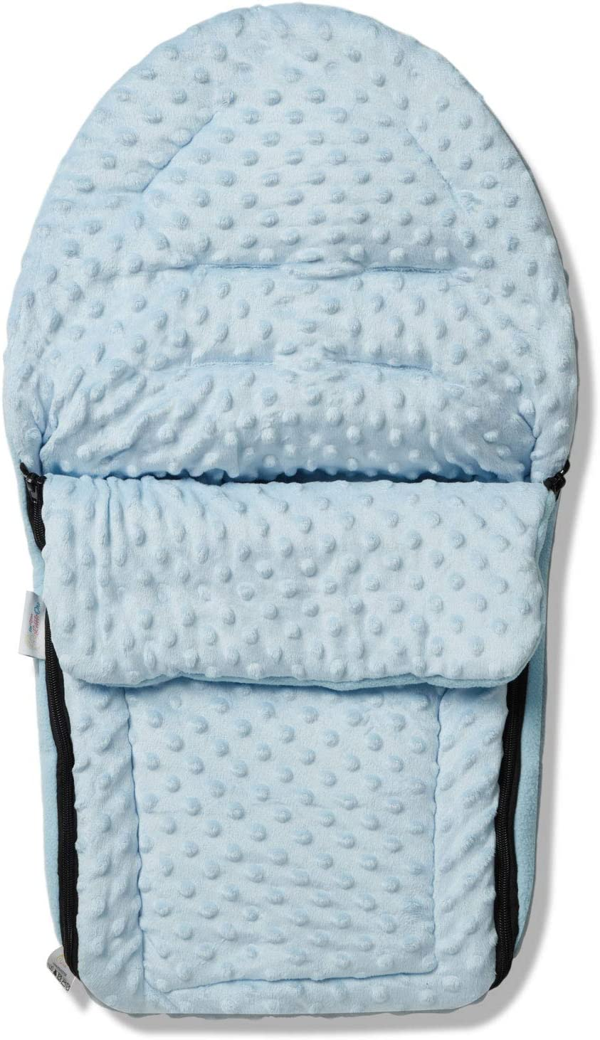 Dimple Car Seat Footmuff//Cosy Toes Compatible with Cybex Aton 5 Blue