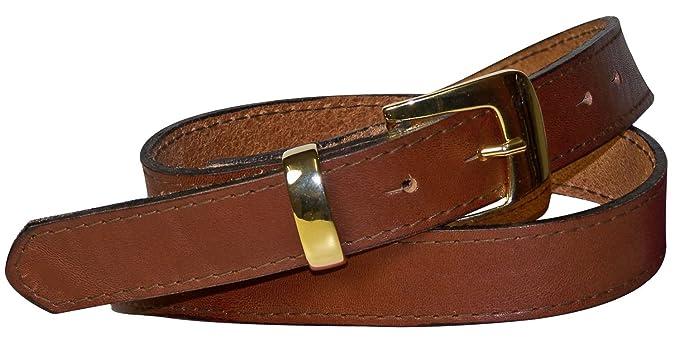 ffafd6d824a Fronhofer Élégante ceinture cousue pour femme de 3 cm boucle de ceinture  dorée passant doré ceinture