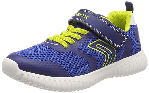 0647764ea02 Geox Boy's Waviness B Sneaker Shoe, Royal/Lime, 28 M EU Little Kid