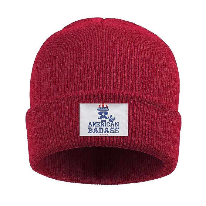Trum Namii Unisex Acrylic Knit Cap American Flag Badass Watch Cap Winter  Beanie Hat at Amazon Men s Clothing store  ff259862882
