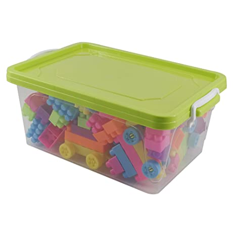 Amazoncom Pekky Stackable Toys Storage Containers Set of 2 green