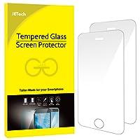 JETech Film de Protection d'écran iPhone Se, iPhone 5s iPhone 5 en Verre Trempé, Lot de 2