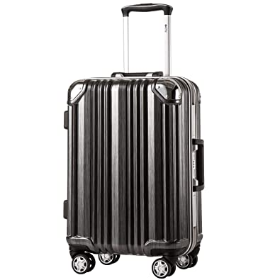 4803be0ce4 [クールライフ] COOLIFE スーツケース キャリーバッグ100%PCポリカーボネート ダブルキャスター 二