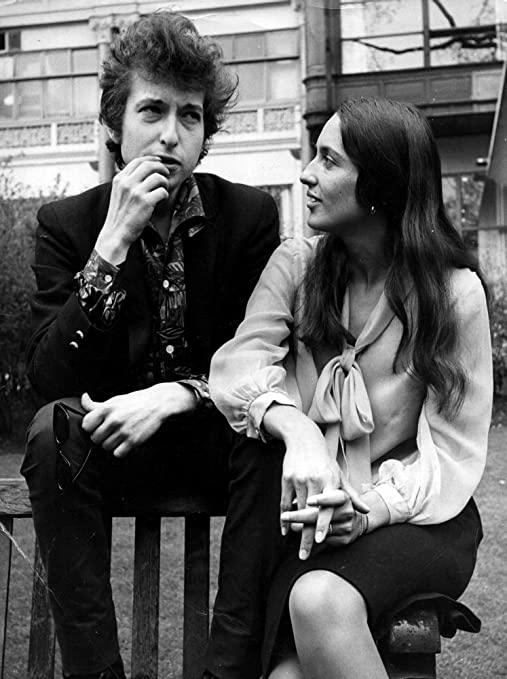Art Print Poster CANVAS Bob Dylan and Joan Baez