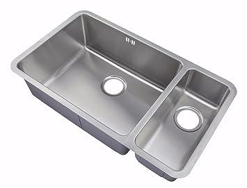 kitchen sinks undermount 15 bowl brushed steel d02l. beautiful ideas. Home Design Ideas