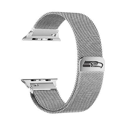 Amazon.com: Seattle Seahawks Correa de malla de acero ...