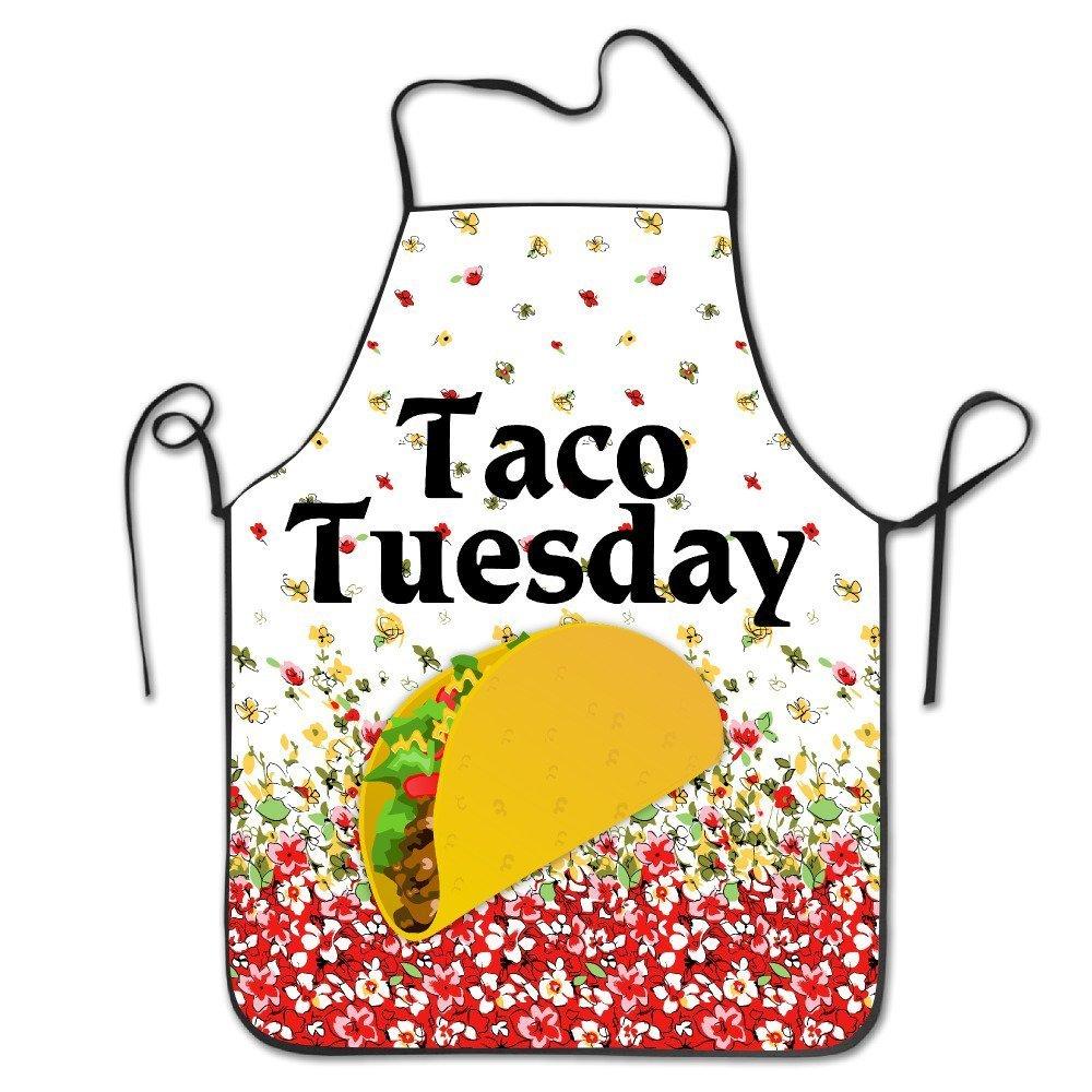 バッグShrot Taco TuesdayデザインBBQキッチン料理エプロン   B07D1MG28W