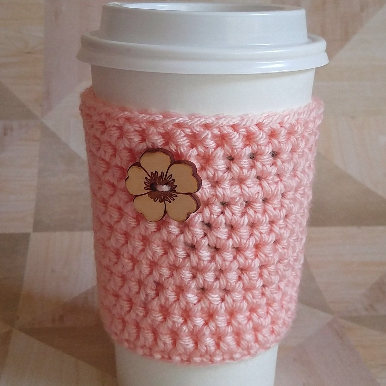 Cup Sleeve Drink Cozy Coral