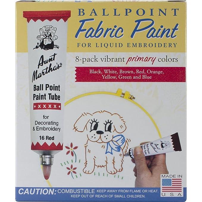 Amazon Aunt Marthas Ballpoint 8 Pack Embroidery Paint Jewel