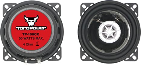 Altavoces de 2 v/ías Toropower TP-100CX color negro