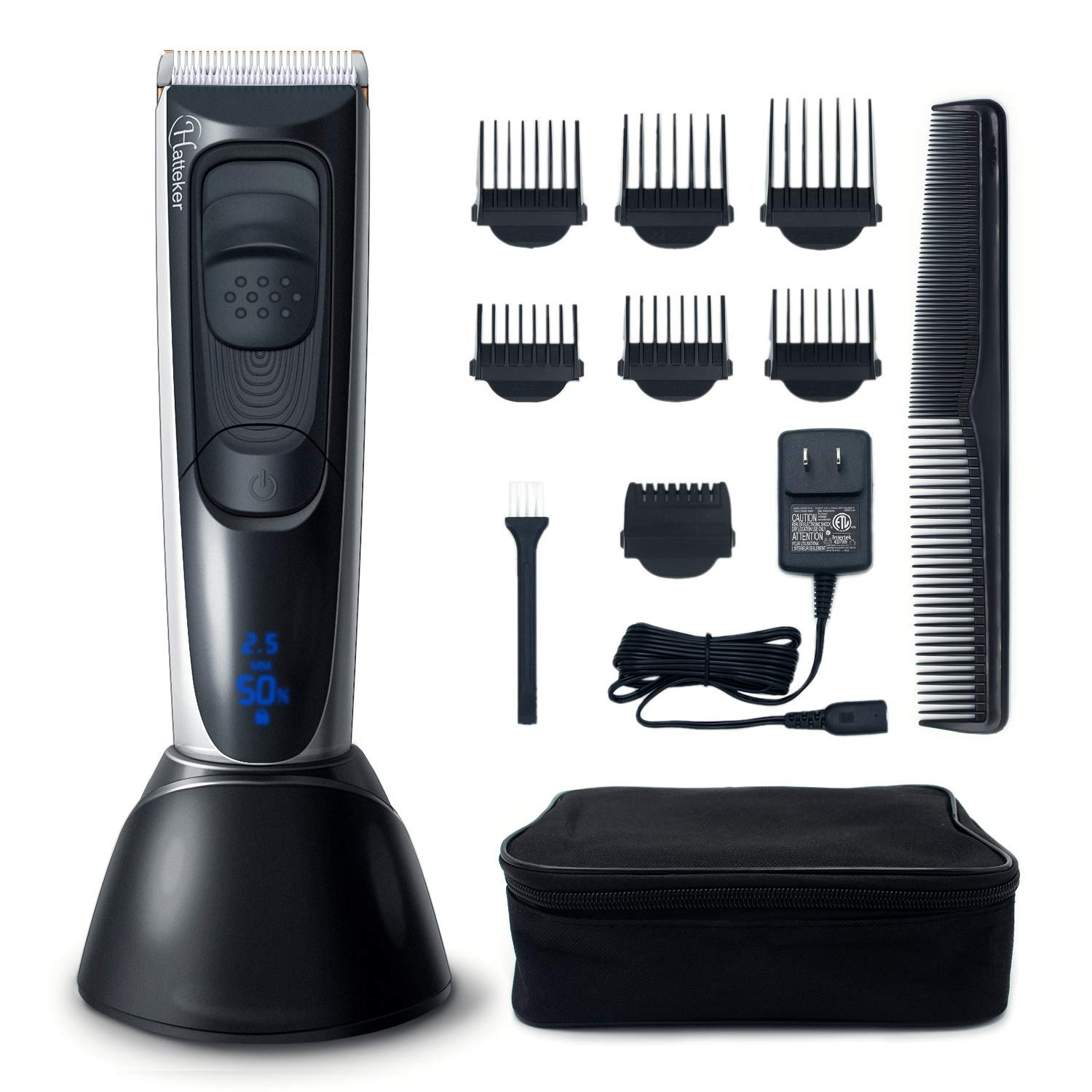 Hatteker Cordless Beard Trimmer Hair Trimmer Clipper Haircut Kit for Men Rechargeable