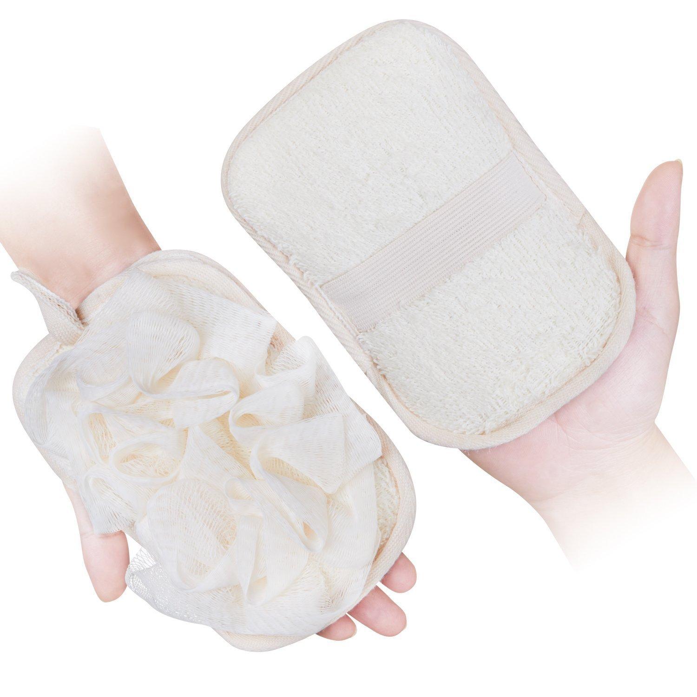 Guanto da bagno per donne 1pezzi, spugna pouf mesh Brush by Mikimini