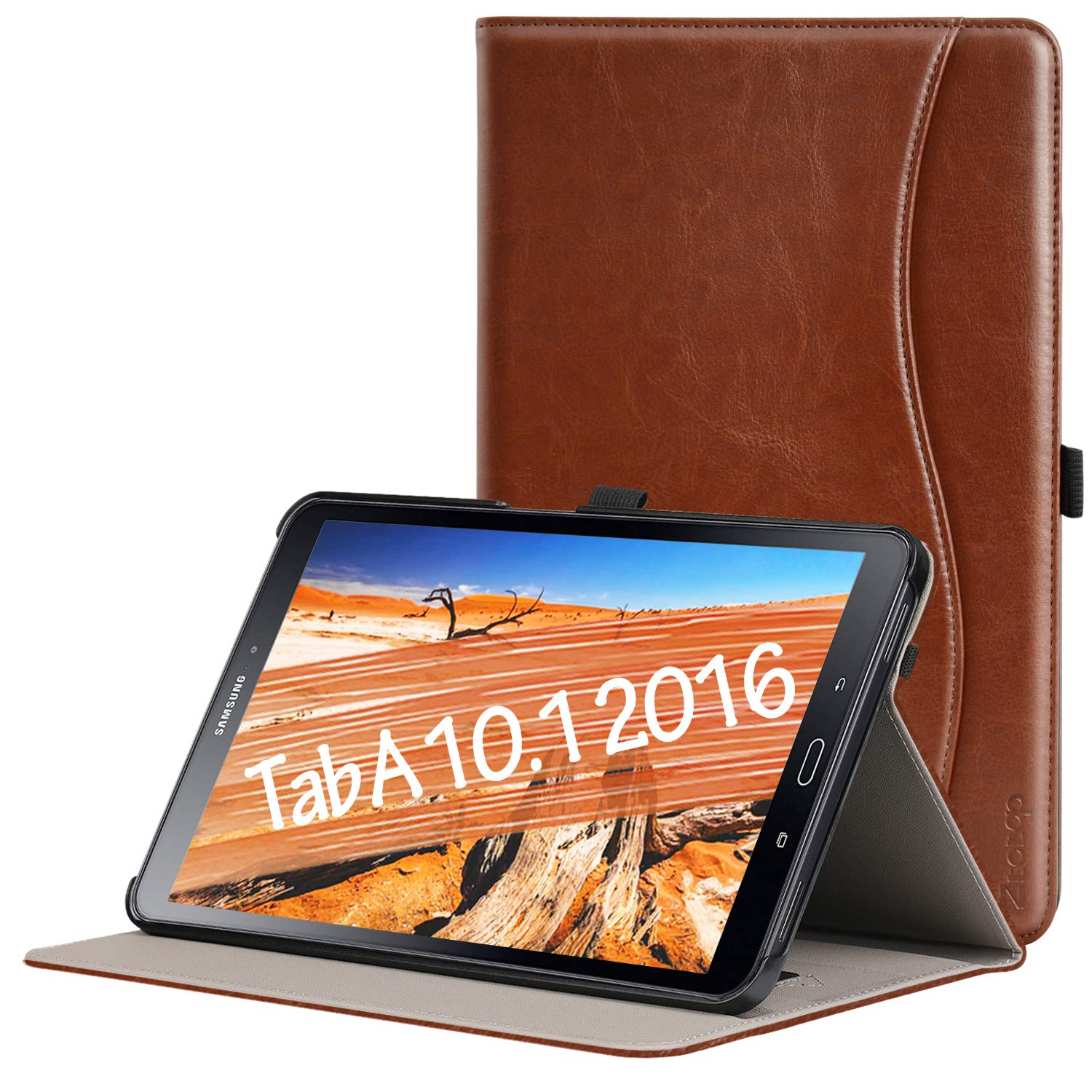 ZtotopCase for Samsung Galaxy Tab A 10 1(2016 NO S Pen Version) - Leather  Folio Cover for Samsung 10 1 Inch Tablet SM-T580 T585 with Auto Wake/Sleep