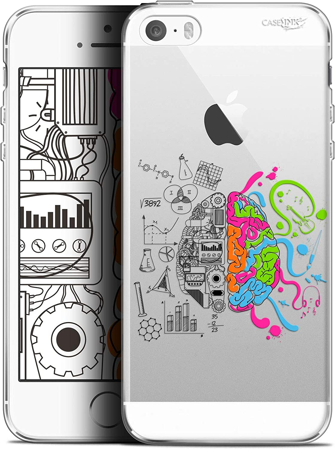 Ultra Slim Case with Brain Design for Apple iPhone 5/5S/SE 4-Inch