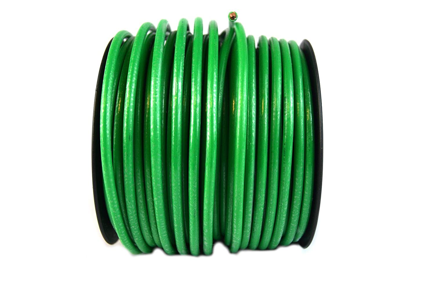 10 Gauge Awg Green Ground Wire 100 Ft Solid Copper Ul Electrical Panel Rod Listed Electronics