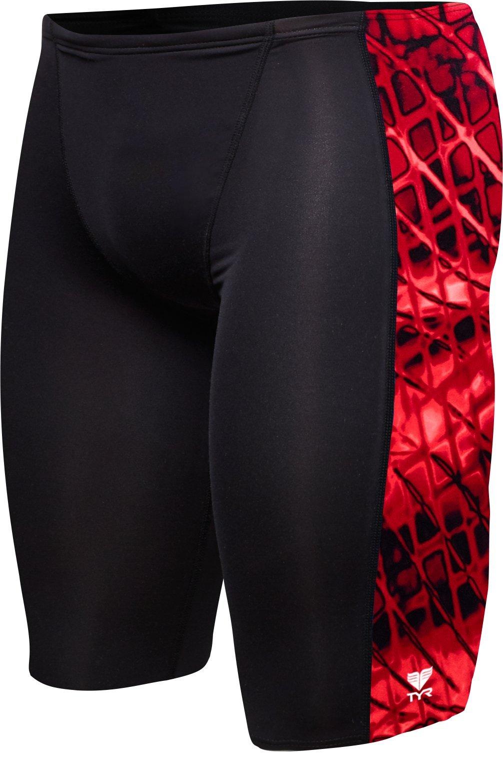 TYR Men's Plexus Hero Jammer Swimsuit, Red, 30 by TYR