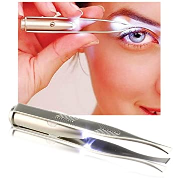 Amazon.com : 1 Pack Eyelashes Curler Make-Up Tool LED Light ...