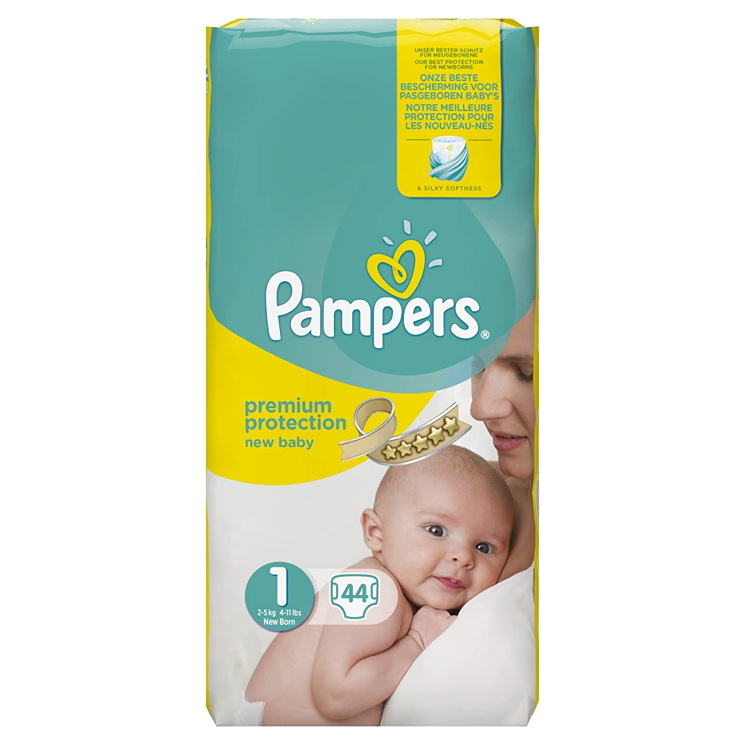 pampers couches taille 1 2 5 kg nouveau n pack g ant lot 44 x 2 x88 couch ebay. Black Bedroom Furniture Sets. Home Design Ideas