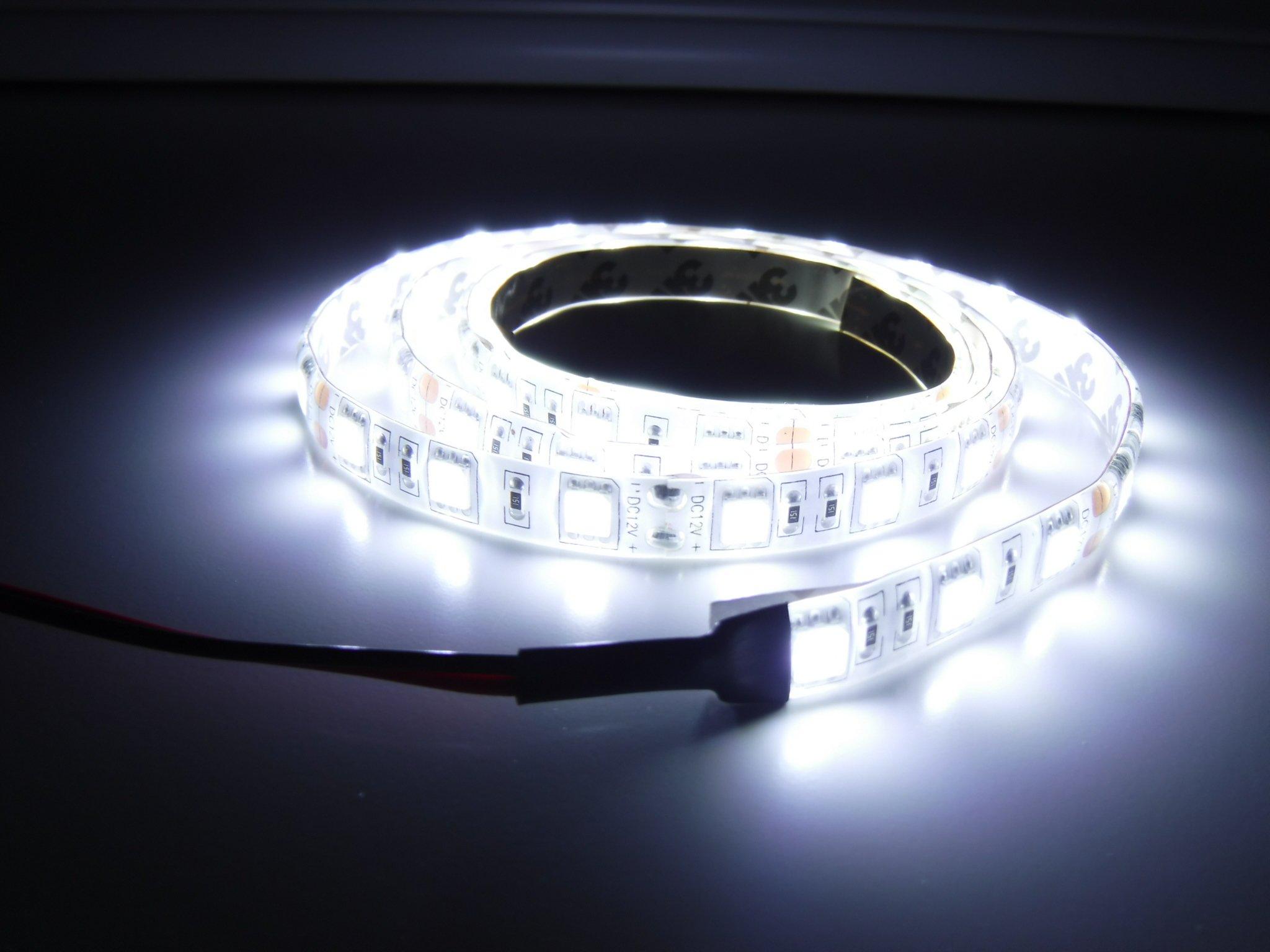 Marine Flexible LED Light Strip 12V 4ft WHITE