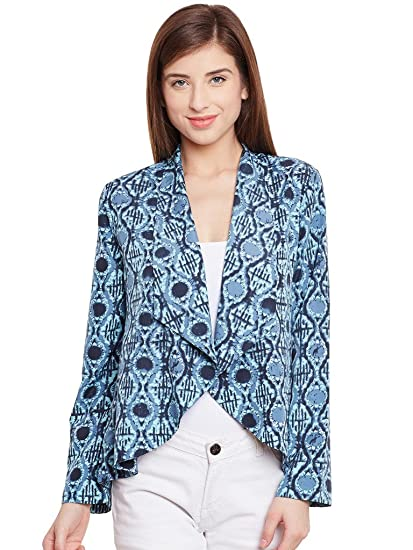 6141d7283cac1d PURYS Printed Crepe Summer Blazer available at Amazon for Rs.675