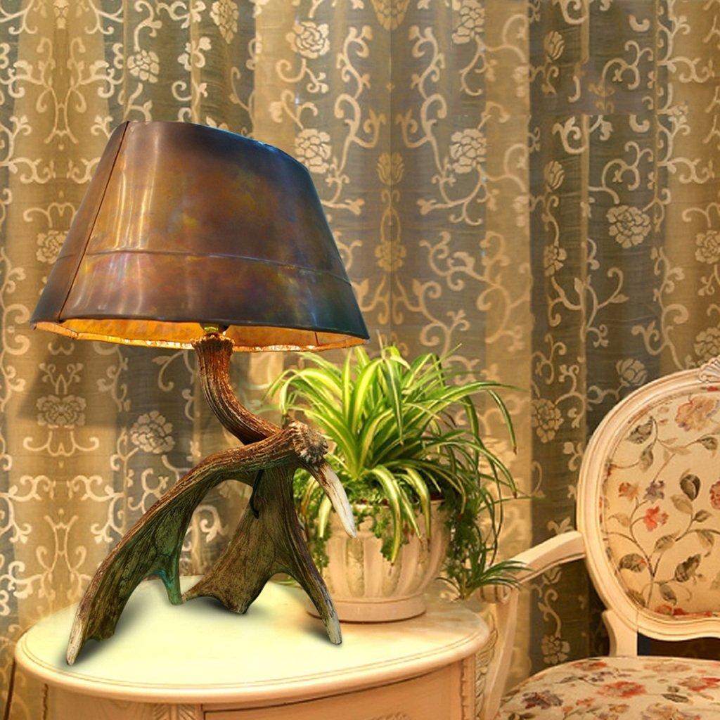 HYNH Amerikanisches Land europäische klassische Schreibtisch Schreibtischlampe Nachttischlampe Schlafzimmer Wohnzimmer Schreibtischlampe Persönlichkeit Kinder Tischlampe