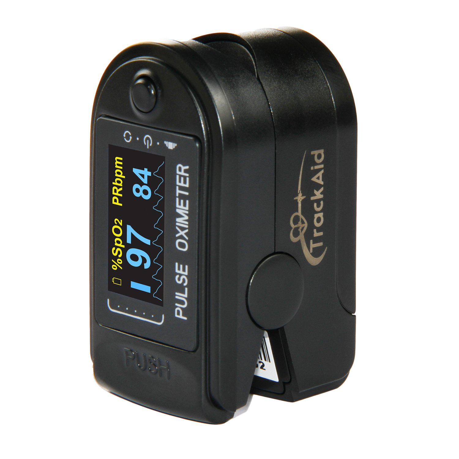 TrackAid Portable Finger Oxygen Saturation and Pulse Rate Monitor