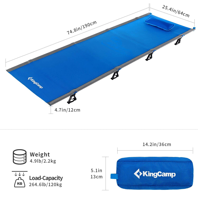 KingCamp Cama de Dormir Ultraligera para Cuna de Camping Premio COMPASSO Peso Capacidad 120kg