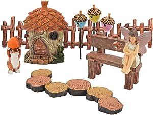 Arcadia Garden Products FG32 Adoring Acorns Fairy Garden Kit-11 Piece
