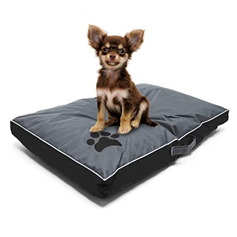 Cojín mascotas Outdoor Lavable M Negro 70x45x6cm Cama perro gato Cesto Animales Accesorios mascotas
