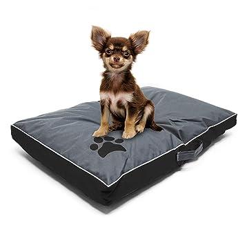 Cojín mascota Outdoor Lavable XL Negro 105x65x8cm Cama perro ...