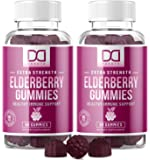 Elderberry Gummies with Zinc, Vitamin C for Adults, Kids for Immune Support Booster Supplement - Sambucus Black…