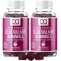 Elderberry Gummies with Zinc, Vitamin C for Adults, Kids for Immune Support Booster...