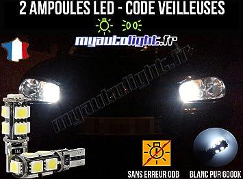 Lote de bombillas LED de color blanco xenón para Volkswagen Golf 4: Amazon.es: Coche y moto