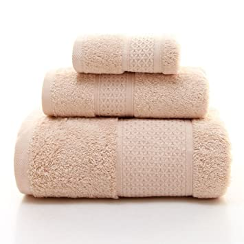 coco-eve algodón de fibras largas 3 piezas Juego de toallas, toallas de 1