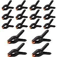 16 stuks nylon veerklemmen, A-vormige houtbewerkingshulp, klemmen, zwarte kunststof clips voor doe-het-zelfprojecten…