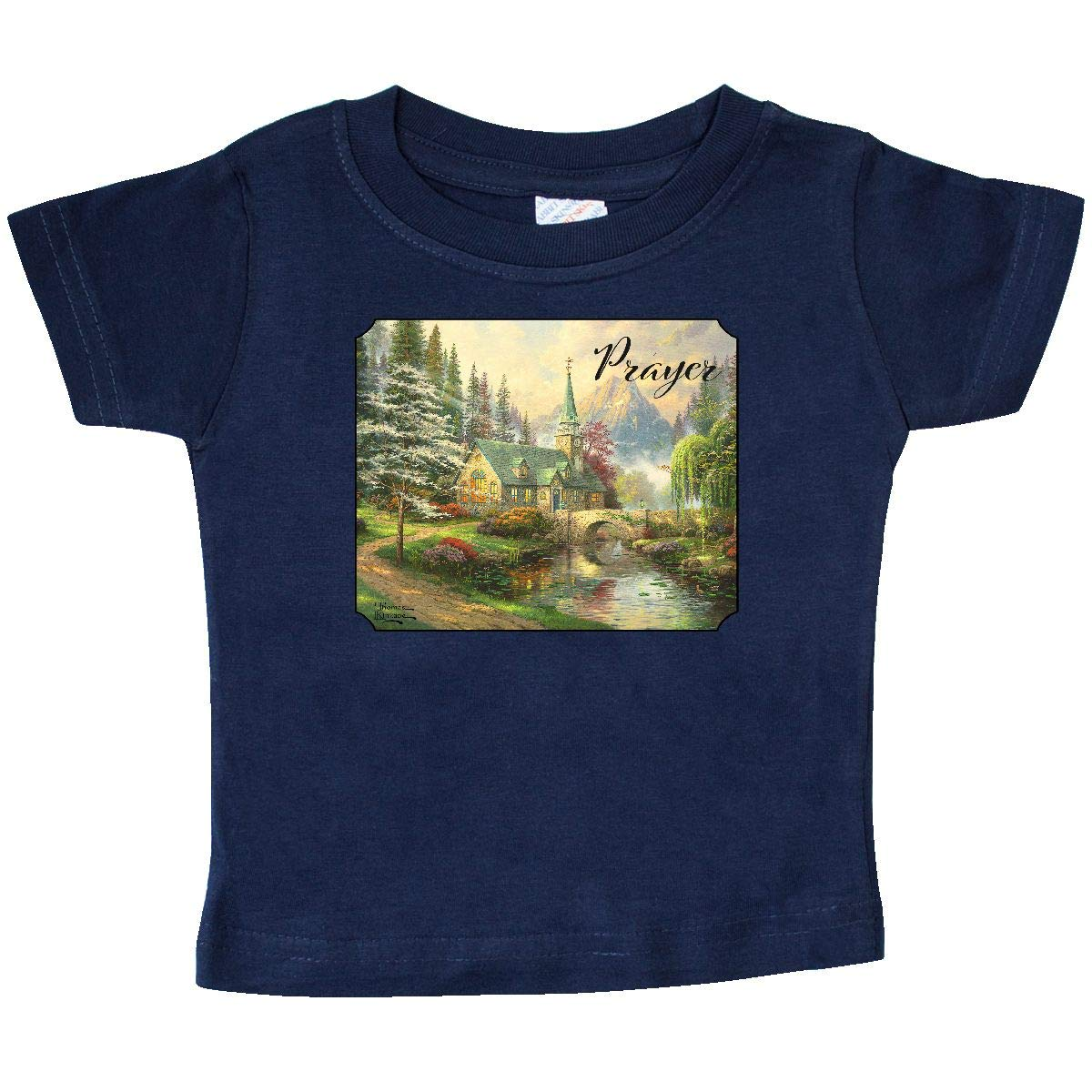 Thomas Kinkade inktastic Dogwood Chapel Baby T-Shirt