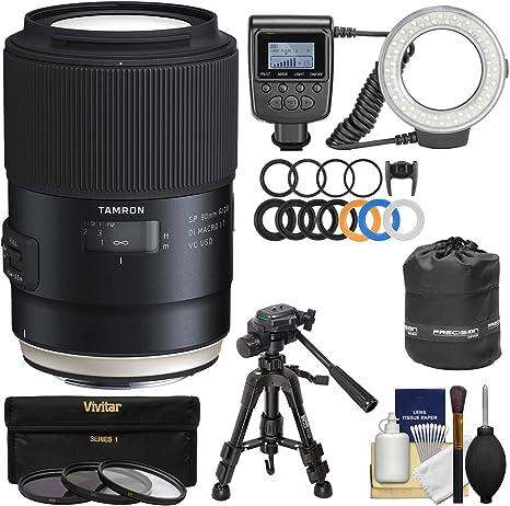 Tamron SP 90 mm f/2,8 Di VC USD Lente Macro 1: 1 con 3 filtros + ...