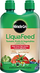 Miracle-Gro LiquaFeed Tomato, Fruits & Vegetables Plant Food Refills, 2 Pack