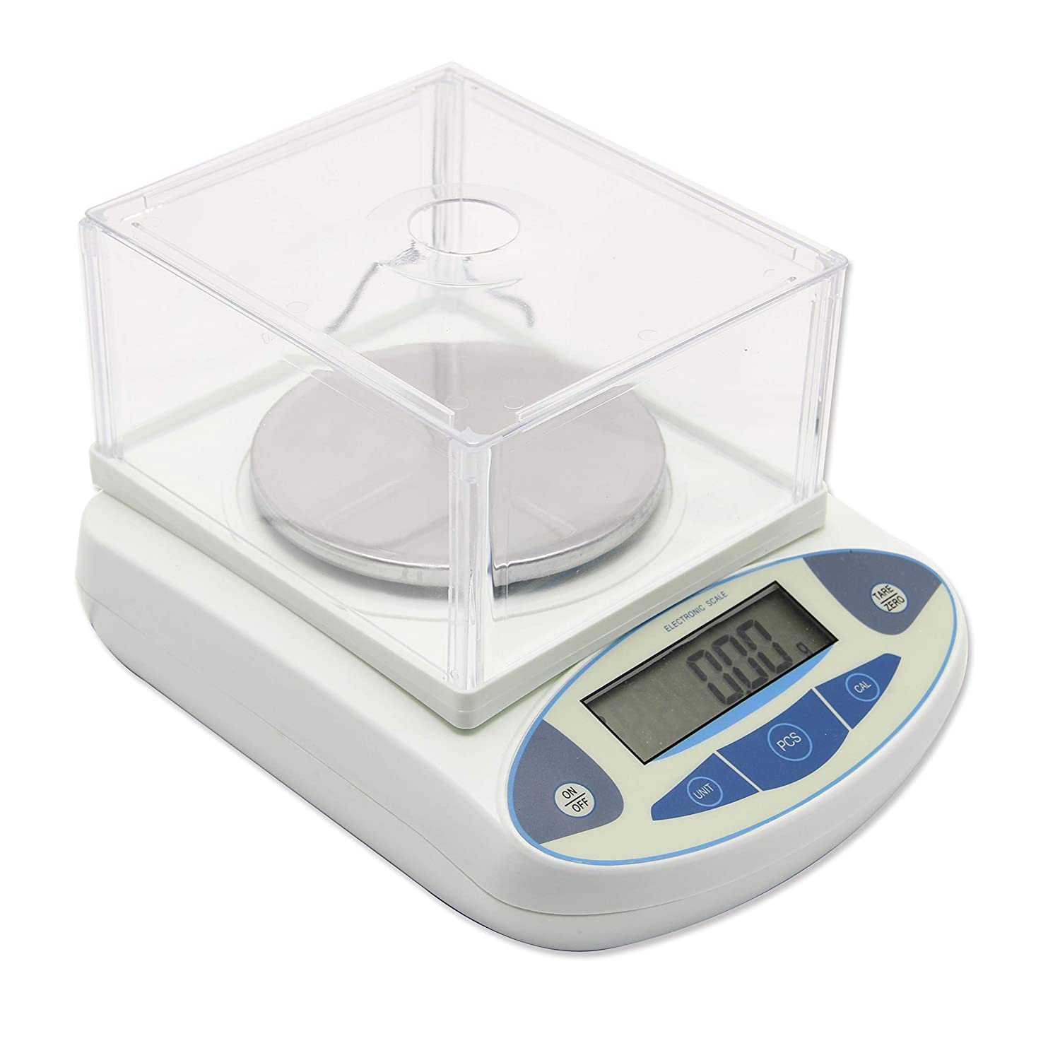 0.01g 3000g High Precision Lab Scale Digital Analytical Electronic Balance Laboratory Lab Precision Scale Jewelry Scales Kitchen Precision Weighing Electronic Scales 0.01g Calibrated & Ready to use (5000g, 0.01g)